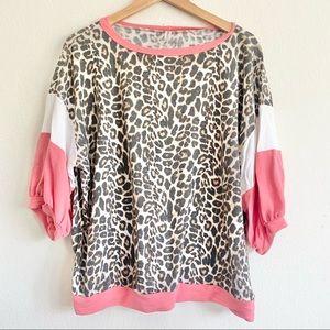 Emerald Boutique Leopard Print Plus Size Top